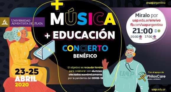 La Universidad Adventista del Plata organizará tres conciertos solidarios online