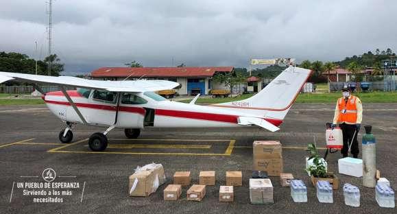 Pruebas moleculares son trasladadas en avioneta misionera en la amazonía peruana