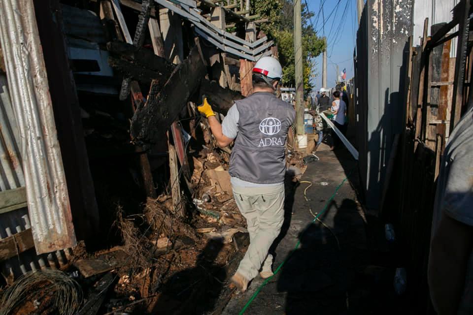 ADRA Chile destinó sus esfuerzos en este primer mes del año, para auxiliar a las víctimas de calamidades