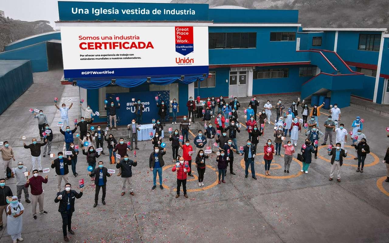Industria de alimentos Unión obtiene certificación internacional de Great Place to Work
