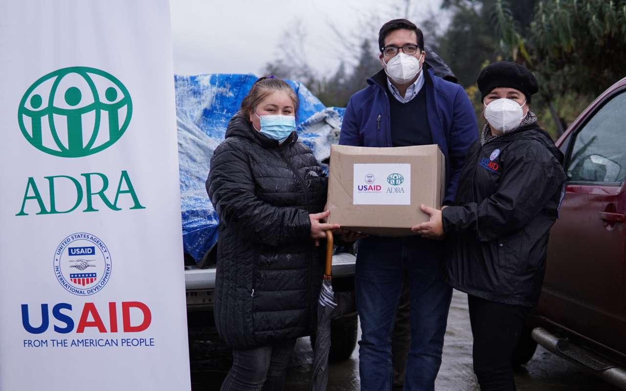 ADRA Chile  entrega más de 280 kits de higiene en la región de Ñuble junto a la agencia USAID